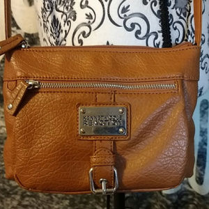 Kenneth Cole Reaction Caramel Colored Crossbody